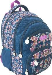 Eurocom Plecak zaokrąglony Catalina Carpintero granatowy w różowe kwiaty (282301)