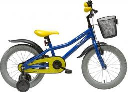 Maxim Rower dziecięcy MAXIM BIKES BAT 16'' niebiesko-żółty