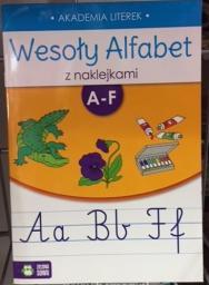 Zielona Sowa Wesoły alfabet z naklejkami A-F