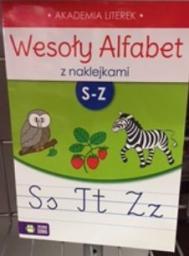 Zielona Sowa Wesoły alfabet z naklejkami S-Z