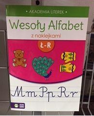 Zielona Sowa Wesoły alfabet z naklejkami Ł-R