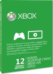 Microsoft Karta subskrypcji usługi Xbox Live Gold na 12 miesięcy (52M-00320)