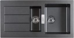 Franke Zlewozmywak 1,5-komorowy SID 651 z ociekaczem 100 x 51cm onyx (114.0181.979)