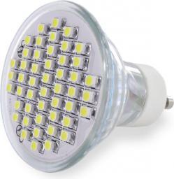 Whitenergy Żarówka LED GU10, 48SMD 3528, 2.5W, 230V, ciepła biała (04994)