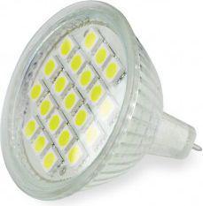 Whitenergy Żarówka LED |GU5.3 |21xSMD 5050 |3W |12V |ciepła biała | (05188)