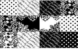 G-Cube Naklejka laptop Black&White Quilt Style GCBSBW15Q