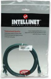 Intellinet Network Solutions patch cord RJ45, kat. 5e UTP, 2 m, zielony, 100% miedŸ (318990)