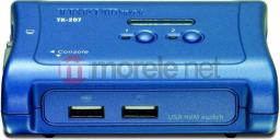 Przełącznik TRENDnet 2xK/V/M 2048x1536 USB 2xCables TK-207K