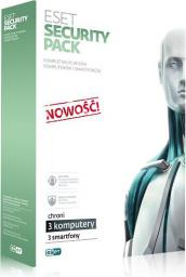 ESET Security Pack 3 stanowiska PC + 3 Smartfony na 3 lata BOX (ESP-N-3Y-3D)