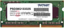 Pamięć do laptopa Patriot DDR3 SODIMM 8GB 1333MHz CL9 (PSD38G13332S)