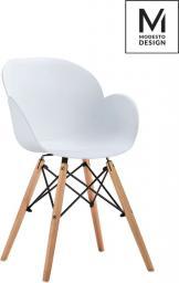 Modesto Design Fotel Flower Wood biały