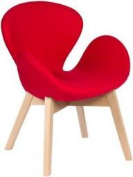 King Home Fotel Swan Wood buk czerwony