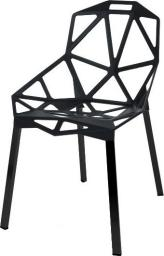 King Home Krzesło SPLIT PREMIUM czarne, nogi czarne