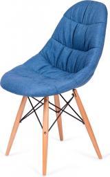 King Home Krzesło Rugo niebieskie