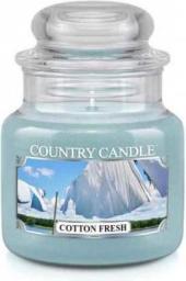 Country Candle Świeca zapachowa Mały słoik Cotton Fresh 104g