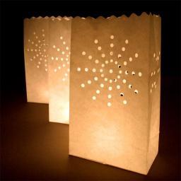 Gadget Factory Lampiony torebki Gwiazdy białe