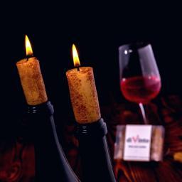 diVinto Świeczki korki do wina