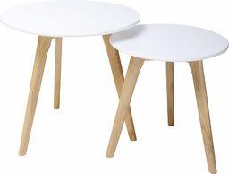 King Home Zestaw stolików kawowych SLOW DUO - biały