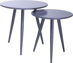 King Home Zestaw stolików LEO szare
