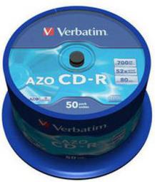 Verbatim CD-R/50/Cake 700MB 52x Crystal AZO 43343