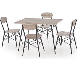Halmar KABIR prostokąt zestaw stół + 4 krzesła dąb san remo / czarny (2p=1szt)