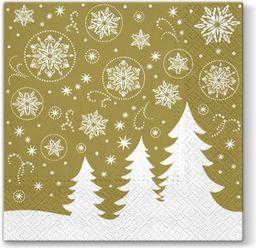 Art-Pol Serwetki Świąteczne Złote