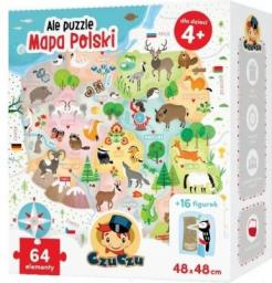Czuczu Puzzle Ale puzzle Mapa Polski 64 elementy