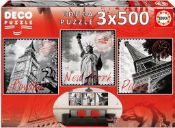Educa Puzzle Big Cities 3x500 Elementów