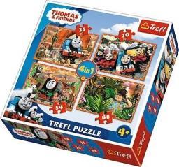 Trefl Puzzle Podróże po świecie Tomek i Przyjaciele 4w1
