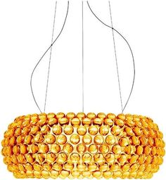 King Home Lampa wisząca ARIA AMBER 65 - kolor bursztynowy