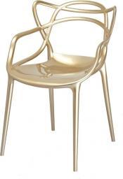 King Home Krzesło LUXO złote