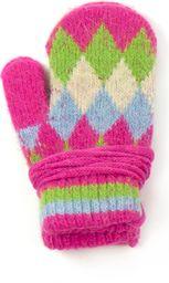 Art of Polo Rękawiczki dziecięce Trapezy różowe (rkq052)