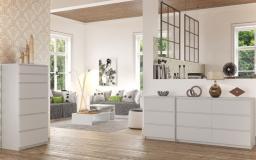 TopEshop Komoda szafka 3 szuflady kolor biały