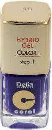Delia Delia Cosmetics Coral Hybrid Gel Emalia do paznokci nr 40  11ml