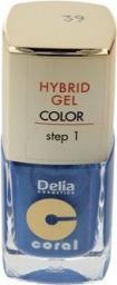 Delia Delia Cosmetics Coral Hybrid Gel Emalia do paznokci nr 39  11ml