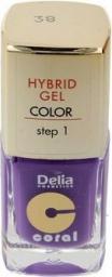 Delia Coral Hybrid Gel Emalia do paznokci nr 38  11ml