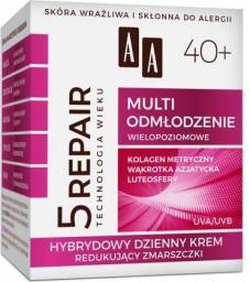 AA Technologia Wieku 5repair 40+ Multi Odmłodzenie Hybrydowy Dzienny Krem Redukujący Zmarszczki 50 ml