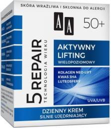 AA Technologia Wieku 5Repair 50+ Aktywny Lifting Krem silnie ujędrniający na dzień 50ml
