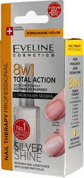 Eveline Eveline Nail Therapy Lakier odżywka do paznokci 8w1 Total Action Silver Shine  12ml