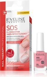 Eveline Nail Therapy Lakier odżywka SOS dla kruchych i łamliwych paznokci 12ml