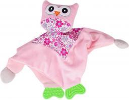 Sun Baby Różowa przytulanka z sówką i gryzakiem (B11.016.1.1)