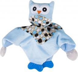 Sun Baby Niebieska przytulanka z sówką i gryzakiem