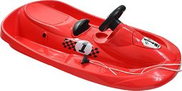 Hamax Sanki plastikowe Sno Formel z hamulcami z kierownicą czerwone (N0617)