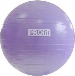 PROfit Piłka gimnastyczna  75cm fioletowa z pompką (P5123)