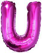 """GoDan Balon foliowy """"litera U"""" - różowa 35cm (FG-L35RU)"""