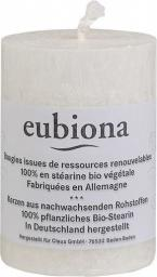 Eubiona Świeca stearynowa biała 56x80 mm