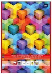 Blok biurowy Interdruk rysunkowy A4/10K barwiony w masie (10szt)