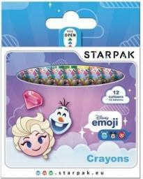 Starpak Kredki woskowe Emoji Frozen 12 kolorów