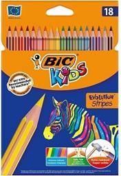 Bic Kredki Eco Evolution Stripes 14+4 kolory (950524)