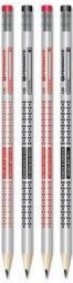 Penmate Ołówek trójkątny z gumką Karty 12szt